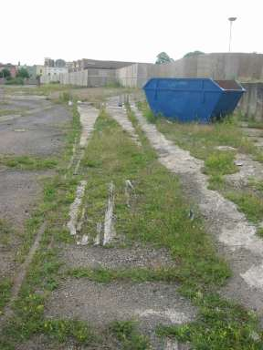 The ex-WFC compound with tracks still in situ