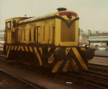 Western Fuels ex PBA 0-6-0 D1171 standing at Wapping Wharf, July 1979 (Courtesy Kevin Redwood)