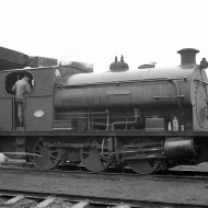 'Hallen' (Peckett 2035 of 1943) at PBA, Avonmouth 5/4/58