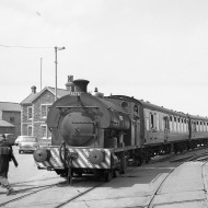 No. S11 'Bristol' (Peckett 2036 of 1943) on an RCTS railtour at the Port of Bristol Authority, Avonmouth 21/7/63