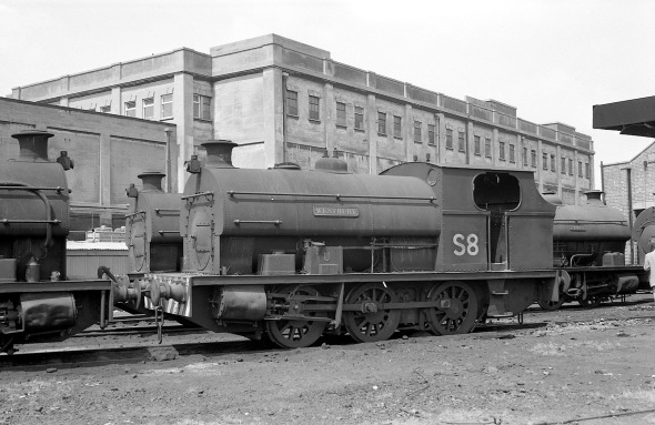 No. S8 'Westbury' (Peckett 1877 of 1934) at the Port of Bristol Authority, Avonmouth 21/7/63