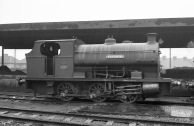 'Westbury' (Peckett 1877 of 1934) at PBA, Avonmouth (side view) 5/4/58