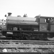 'Westbury' (Peckett 1877 of 1934) at the Port of Bristol Authority, Avonmouth Docks (side view) 13/8/49