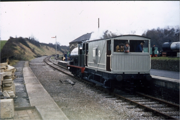 The first steam-hauled trains at Bitton