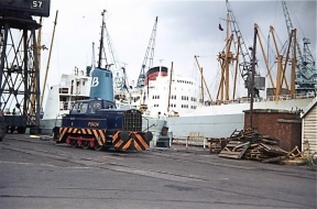 PBA 34 on the dockside,1973 (Courtesy John Stanford)