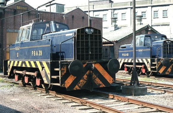 Sentinel 0-6-0 No. PBA 39 and PBA 40 at Avonmouth docks 14/5/82 (Courtesy Kevin Hughes/RCTS)