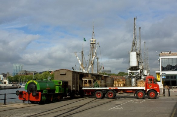 The museum's Bristol lorry during a loading demonstration in 2013 (Photo copyright Stu Chapman)