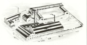 An illustration of the Atlas Locomotive Works, published in Peckett's catalogue in the 1920s.