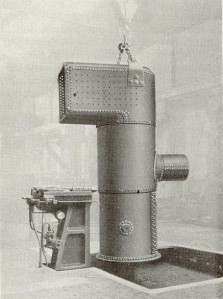 Peckett's used this hydraulic riveter for the final assembly of boilers and fireboxes.