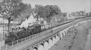 Ex-LMS 2-6-2 tank engines, Nos. 41202 and 41203 haul an RCTS special on the Bristol Harbour Line on 28th April 1957