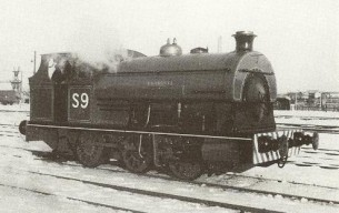 Henbury as port locomotive number S9, shortly after a major overhaul in 1963.