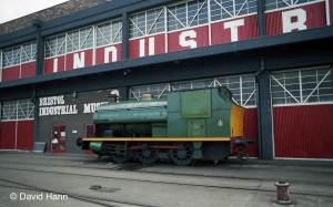 Boarded up - the engine shed at the back of the museum not in use in 1982 (David Hann)