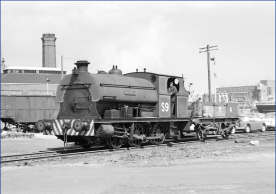 PBA S9 Henbury shuffles round docks at Avonmouth 6/1962 (Copyright: RailPhotorints.UK 2016. Why not have a look at our 25000+ railway files, you might find something of interest - RailPhotoprints.UK)