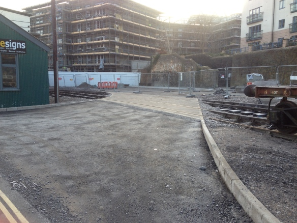 Concrete complete - Almost unrecognisable from the scene a year ago!