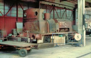 No.242 outside M/L Shed in 1989. Copyright Adrian Nicholls, reproduced with permission.