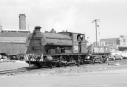 PBA's Peckett S9 'Henbury' shuffles round the docks area at Avonmouth 6/62