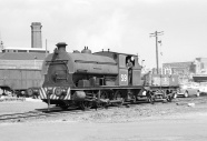 PBA's Peckett S9 'Henbury' moves round the docks area at Avonmouth 6/62
