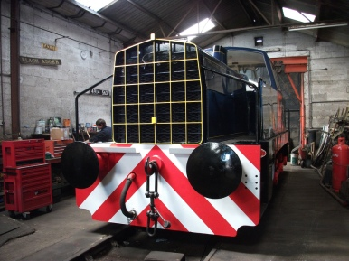 Restored PBA 39 inside Cranmore shed at the East Somerset Railway