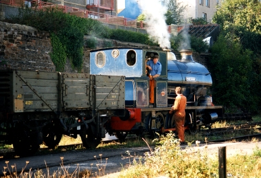 Portbury in blue shunting stock in 1996 (Photo Copyright Philippa Crabbe)