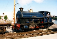 Portbury in blue, 1996 (Photo Copyright Philippa Crabbe)