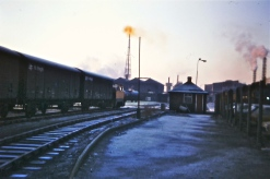 Early morning at Imperial Smelting Avonmouth with Sentinel loco number 6 (Paul Stanford)