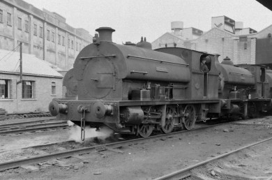 Peckett 'Henbury' 8/9/1956. Note the straight smokebox front and unlined cab before the 1960 rebuild. (Courtesy Transport Treasury/Eric Sawford Collection)
