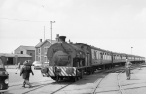 0-6-0ST No. S11 'Bristol' (Peckett 2036 of 1943) on an RCTS railtour at the Port of Bristol Authority, Avonmouth 21/7/63 (Courtesy RCTS/Jack Faithfull)