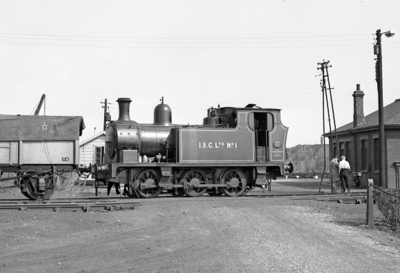 ISC No.1 (Hudswell Clarke No.1246 of 1916) in 1955. This locomotive was the same type as those used on the Manchester Ship Canal system. (RailPhotoPrints)