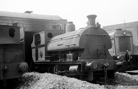 Peckett 'Henry' at Avonmouth sheds. The HC diesel on the right is 'Arthur', dating this photograph after 1949. (I have been unable to trace the copyright owner of this photograph, if anyone has any information then please do get in touch).