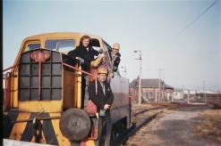 Imperial Smelting Avonmouth, 3rd Jan 1985. The crews on the Sentinel locos were always friendly and they kindly gave me many cab rides on either Sentinel number 6 or 7 unto Hallen Marsh Jn (Courtesy Paul Stanford)