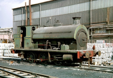 Avonmouth Avonside This locomotive never travelled far from where it was built, 0-6-0ST 'ISCL No.2' built by the Avonside Engine Co. (works No.1798 of 1918) set aside as a standby loco at Imperial Smelting Co Ltd, Avonmouth on 7th March 1970. (Copyright Gordon Edgar - No unauthorised use)