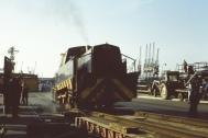PBA 39 smoking the rails at Avonmouth 1983.