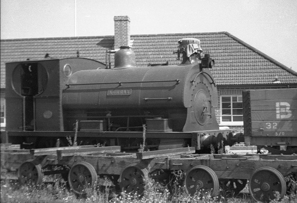 'Murray' at Portishead, 17th July 1952, with the chimney sheeted up (courtesy RailPhotoPrints)