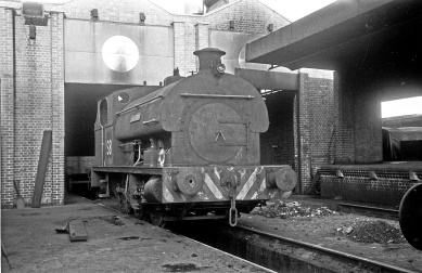 0-6-0ST No. S8 (P1877/1934) at the Port of Bristol Authority, Avonmouth Docks 13/12/64 (Courtesy Roger Hateley/RCTS)