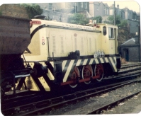 Western Fuels Diesel Locomotive at Bristol Docks, Summer 1981. (Courtesy Anthony K. Pearce via Wikipedia Commons)