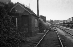 The weigh bridge in the sidings. This area is now the yard for the BHR, where the goods stock is kept. 16th September 1979 (Tim V)