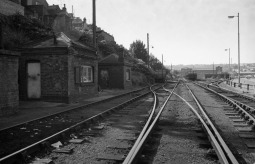 The sidings. This area is now the yard for the BHR, where the goods stock is kept. 16th September 1979 (Tim V)