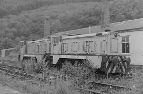 D2007 (TIBRUIT, HC D917/1956) and D2008 (GUINNION, HC D918/1956) at Plockton, 1981 (Photo courtesy Eddie Barnes)
