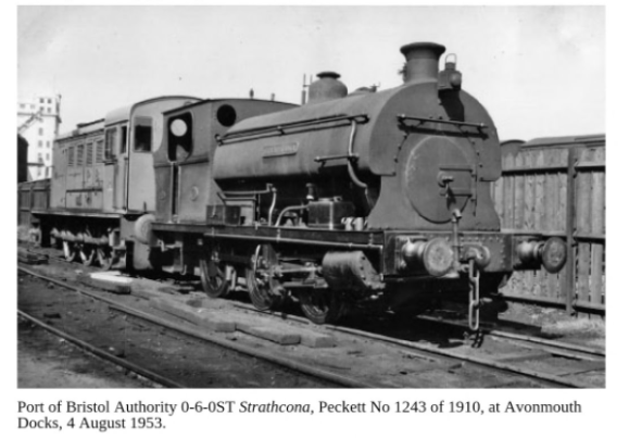 Stratchcona in 1953 with 'Tintagel' or 'Camelot' behind - Photo appears in the book 'The Life of a Steam Railway Photographer, The Reverend Alan Newman' by Colin Maggs