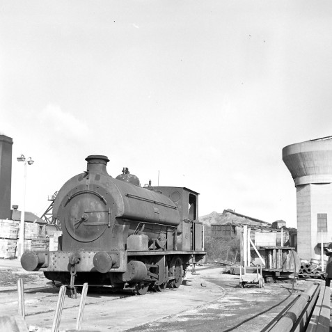 Another loco of the same type, No.13 Avonside 0-6-0ST (1727/1916) at Ramcroft Heath Colliery (Derbyshire)- 08/03/1964 - Horace Gamble
